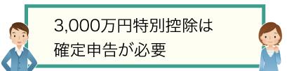 3,000万円特別控除は確定申告が必要