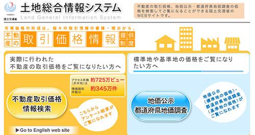 土地総合情報システムの画像